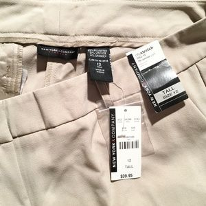 New York & Co. 12 Tall City Stretch Pants  NWT
